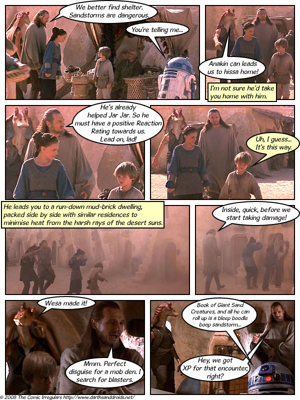 Episode 69: In Which Qui-Gon, Jar Jar, R2-D2, and Padmé Seek Shelter From a Sandstorm