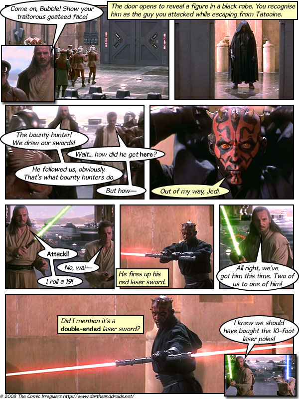 Episode 166: Bubble's Stubble, Foil is Double; Qui-Gon Learns that Maul is Trouble